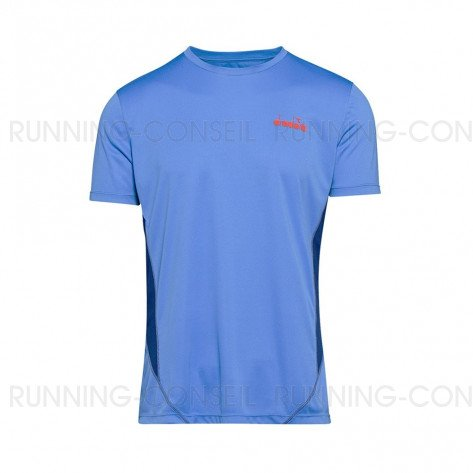 DIADORA T-SHIRT MANCHES COURTES X-RUN HOMME | SKY / BLUE NAVY | Collection Printemps-Été 2019