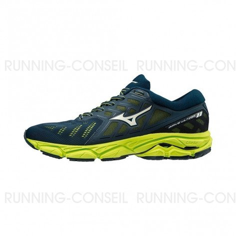 MIZUNO WAVE ULTIMA 11 Homme | Dress Blues / Vapor Blue / Lime Punch