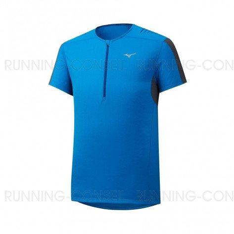 MIZUNO Tee-Shirt Trail manches courtes ENDURA TRAIL HZ Homme | Brillant Blue | Collection Printemps-Été 2019
