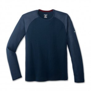 BROOKS Tee-Shirt Manches Longues Stealth Homme   indigo