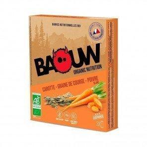 BAOUW Barres énergétiques bio | Carotte - Graine de courge - Poivre Blanc | Pack de 3