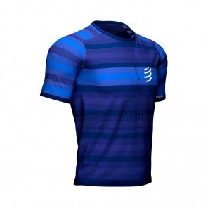 COMPRESSPORT Tee-shirt manche courte RACING Homme | Bleu