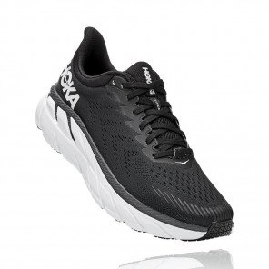 HOKA CLIFTON 7 Homme - BLACK / WHITE