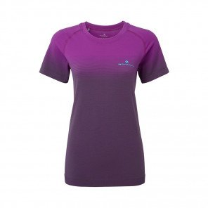RONHILL Tee-shirt manches courtes Infinity Marathon Femme | Thistle Grey marl