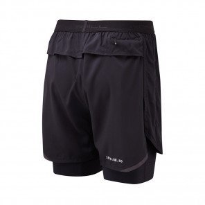 RONHILL SHORT TWIN REVIVE STRIDE Homme   ALL BLACK