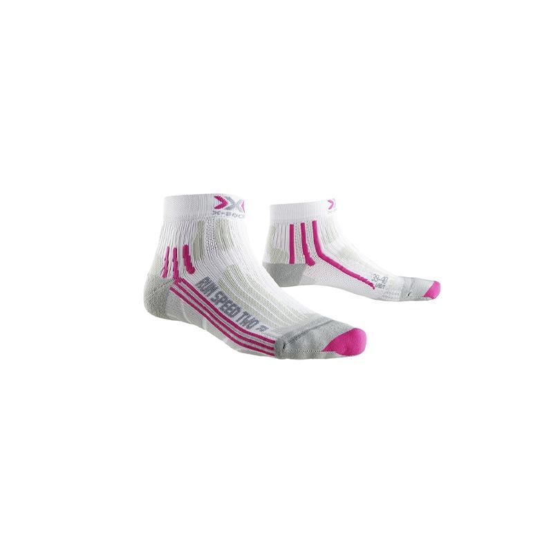 X-Socks Run Speed Two - Femme - Blanc / Fushia